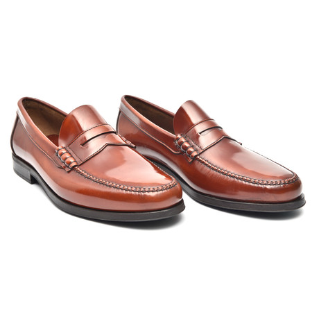 Rubber Sole Penny Loafer // Redwood