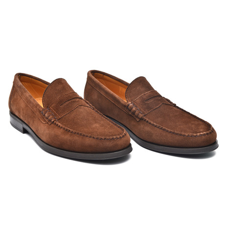 Suede Penny Loafer // Chestnut