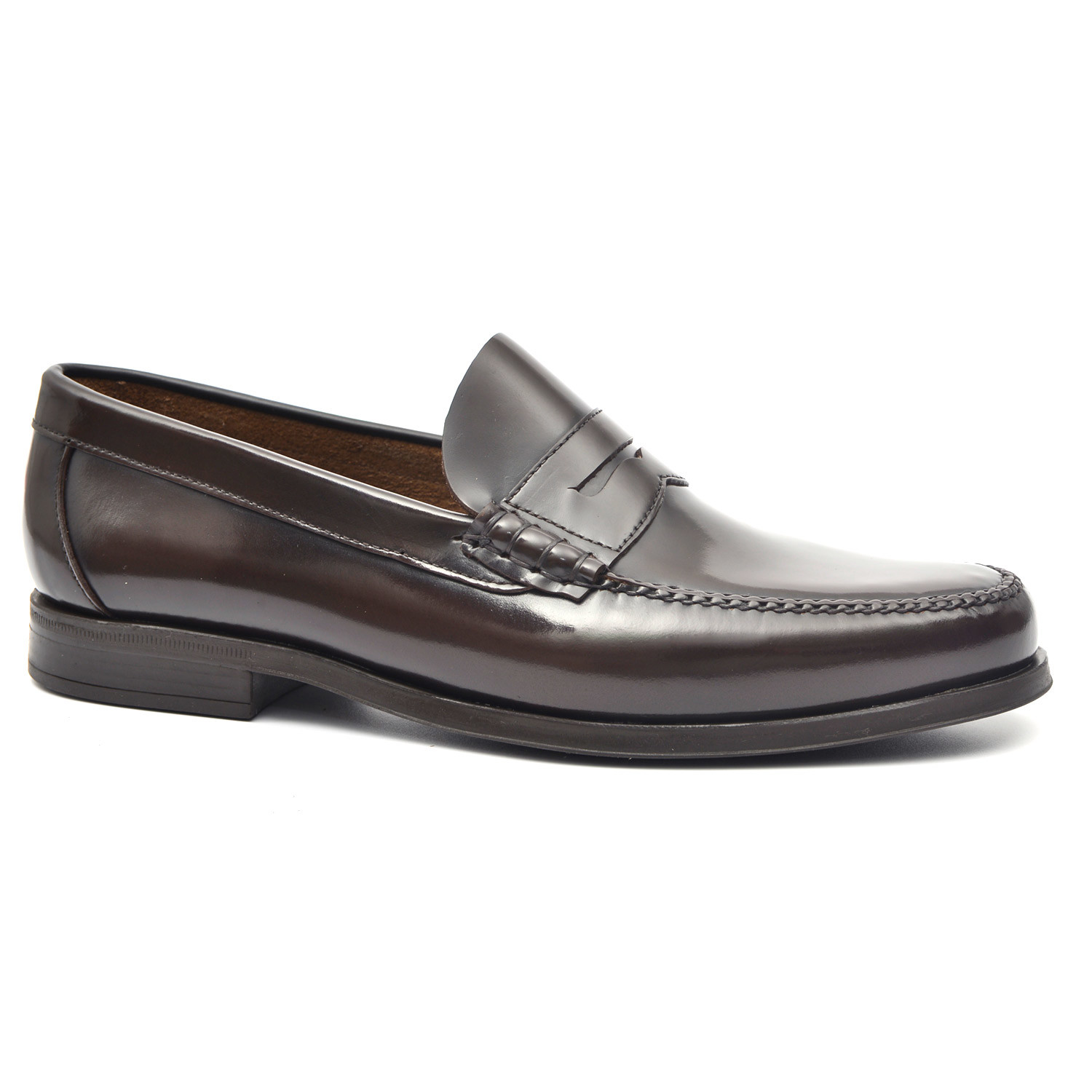 Rubber Sole Penny Loafer // Brown (Euro: 38) - Gil's ...