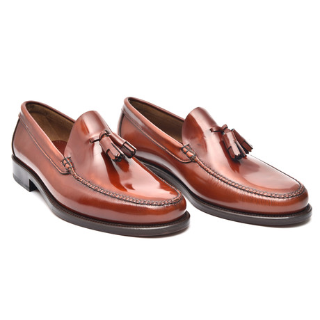 Leather Sole Tassel Loafer // Redwood