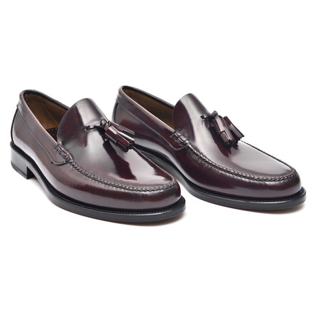 Rubber Sole Tassel Loafer // Bordeaux