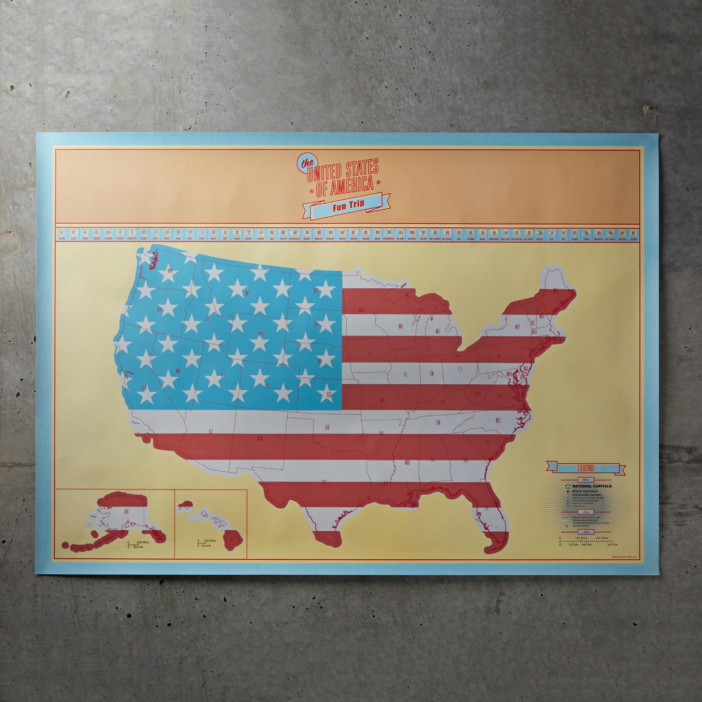 USA Scratch Map - Moderndek - Touch of Modern
