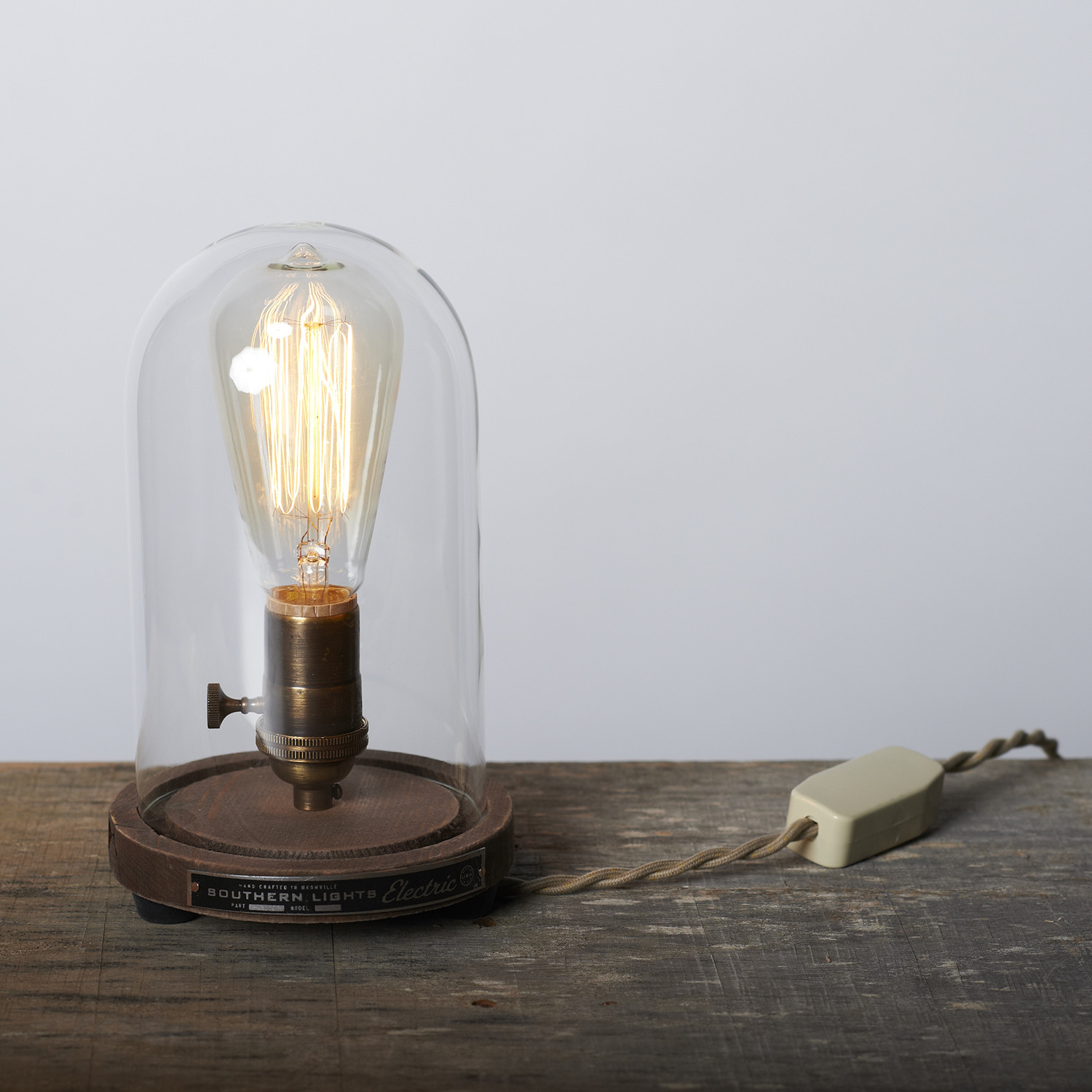 Bell jar table lamp southern lights electric touch of modern bell jar table lamp geotapseo Choice Image