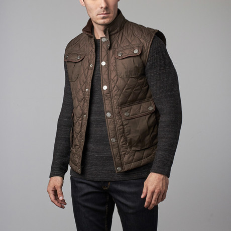 Quilted Field Vest // Olive