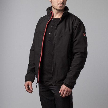 Venture Heat // Escape Heated Soft Shell Jacket // Black