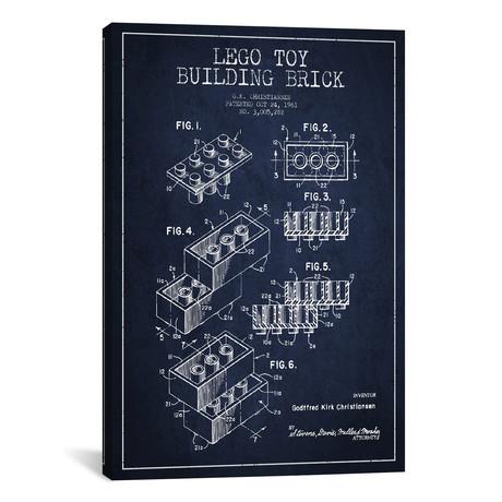 "Toy Lego // Navy Blue (18""W x 26""H x 0.75""D)"