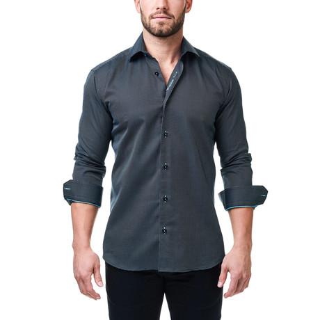 Luxor Getzner Dress Shirt // Black + Turquoise
