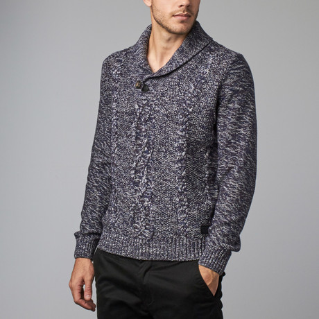 Shawl Collar Sweater // Navy