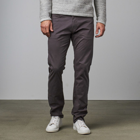 Garment Washed 5 Pocket Pant // Charcoal
