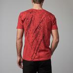Ultra Soft Hand Dyed V-Neck // Red Spray (XL)