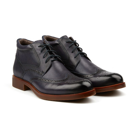 Classic Wing-Tip Boot // Sapphire (US: 7)