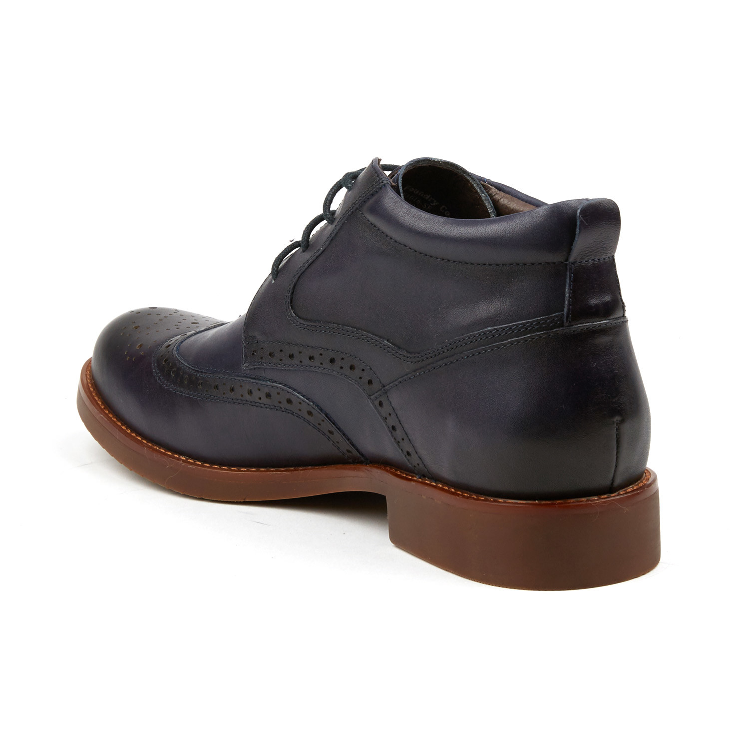Classic Wing Tip Boot Sapphire US 7 Clearance