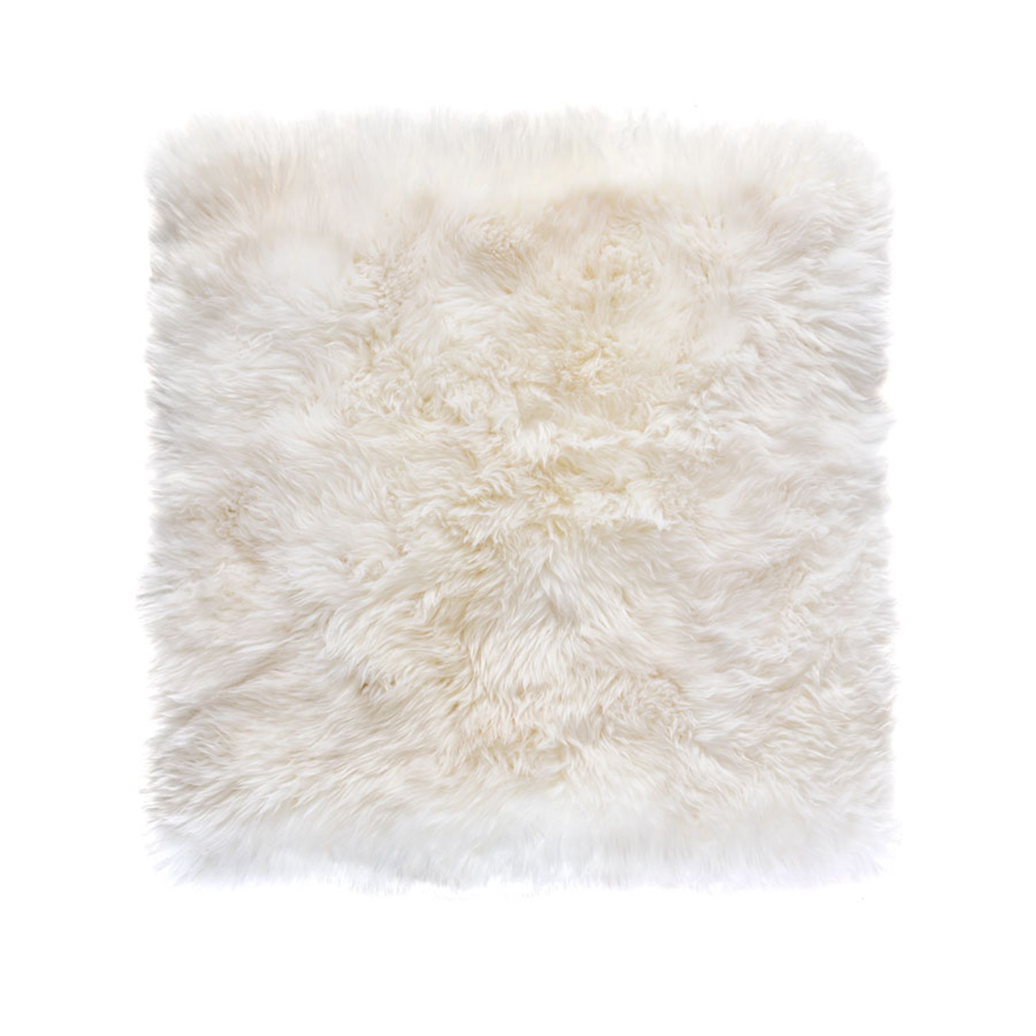 Sheepskin Rug Square: New Zealand Sheepskin Rug // Square (White)