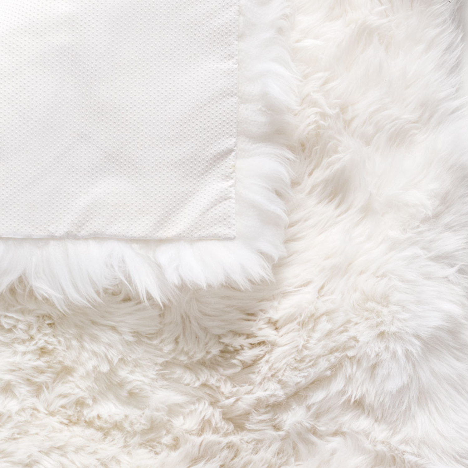 new zealand sheepskin rug square white
