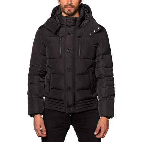 Alasaka Hooded Down Puffer Coat // Black