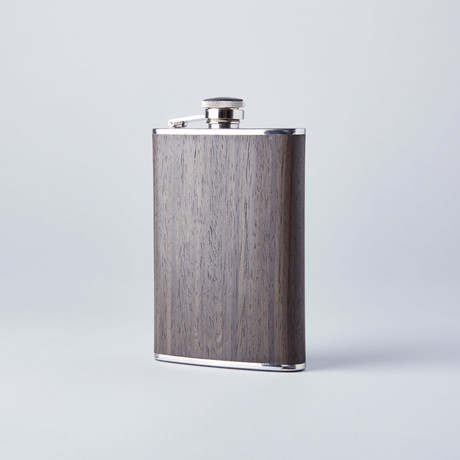 Flask // Gun Metal Ebony Wood