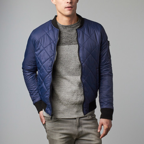 Nico Bomber Jacket // Blue
