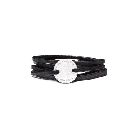 Story Coin Leather Wrap // Black (Black)