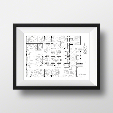 Fantasy Floorplans - TV Show Blueprints - Touch of Modern