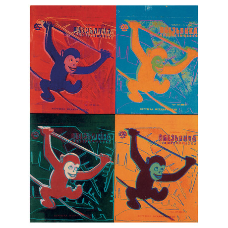 Andy Warhol // Four Monkeys (Lg) // 1993 Offset Lithograph