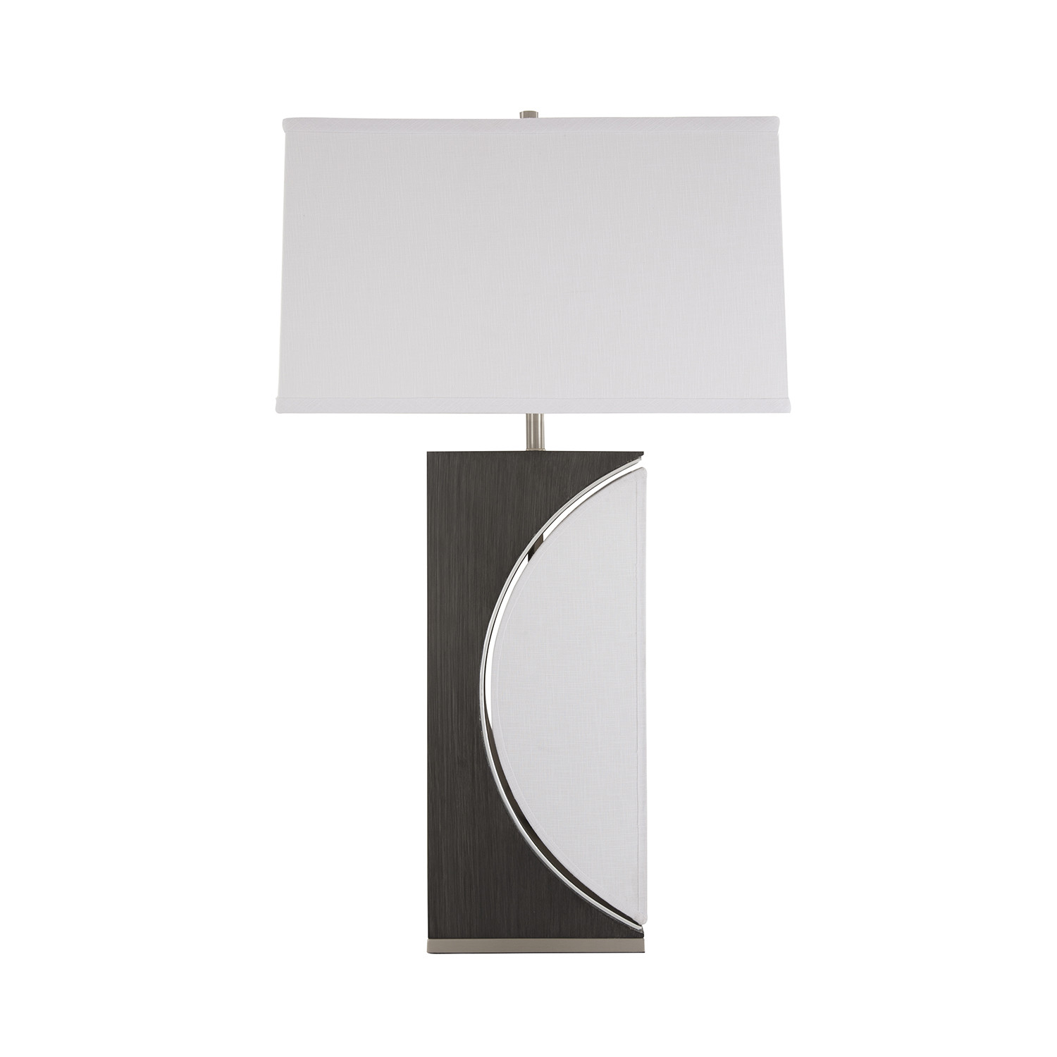 Half moon table lamp ash gray nova lamps touch of for 1 2 moon table