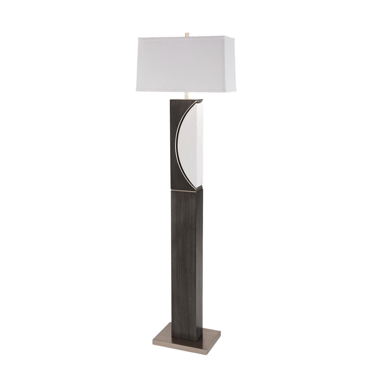 Half Moon Floor Lamp // Ash Gray - Nova Lamps - Touch of ...