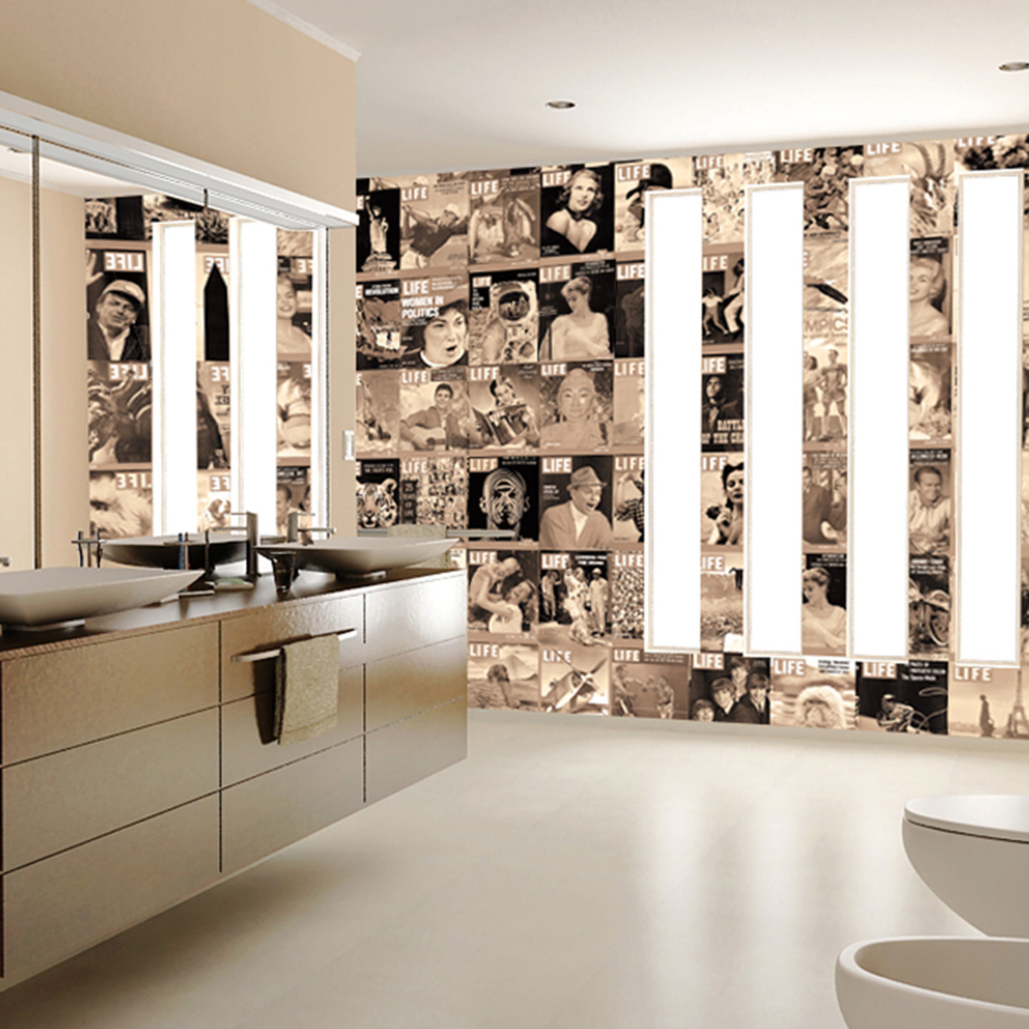 creative collage life icons 1 wall murals touch of modern creative collage life icons