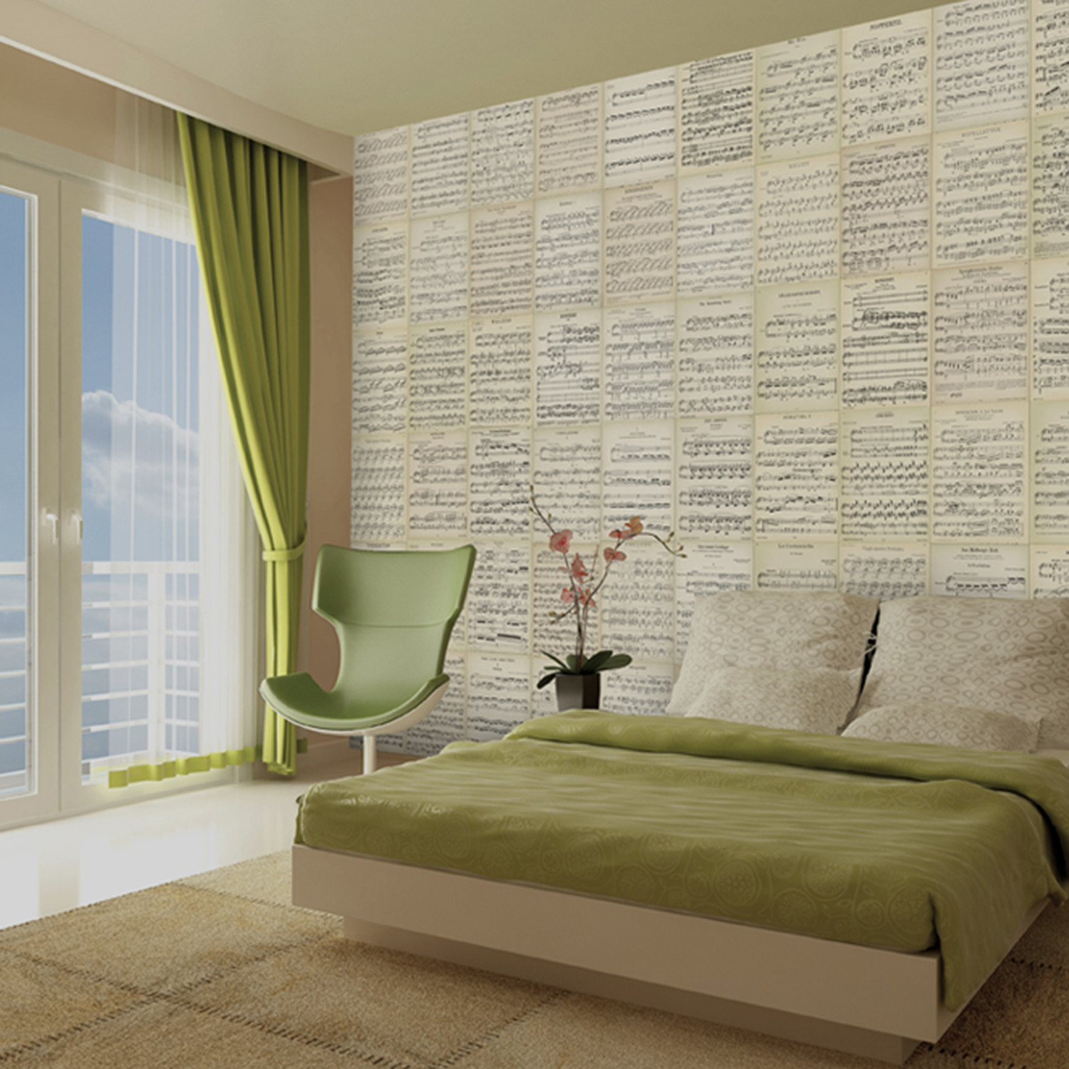 creative collage music sheets 1 wall murals touch of modern