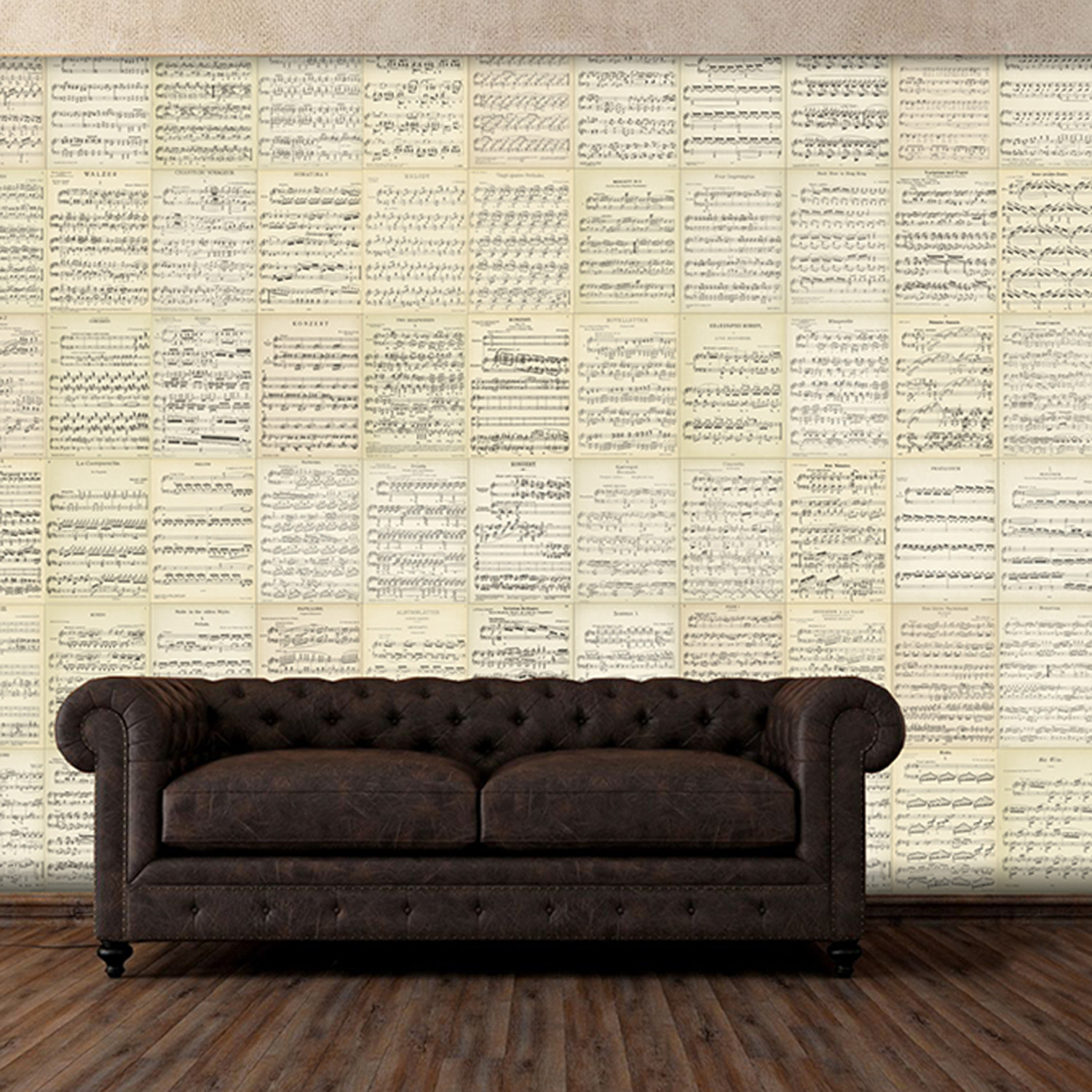 Creative collage music sheets 1 wall murals touch for 8 sheet giant wall mural