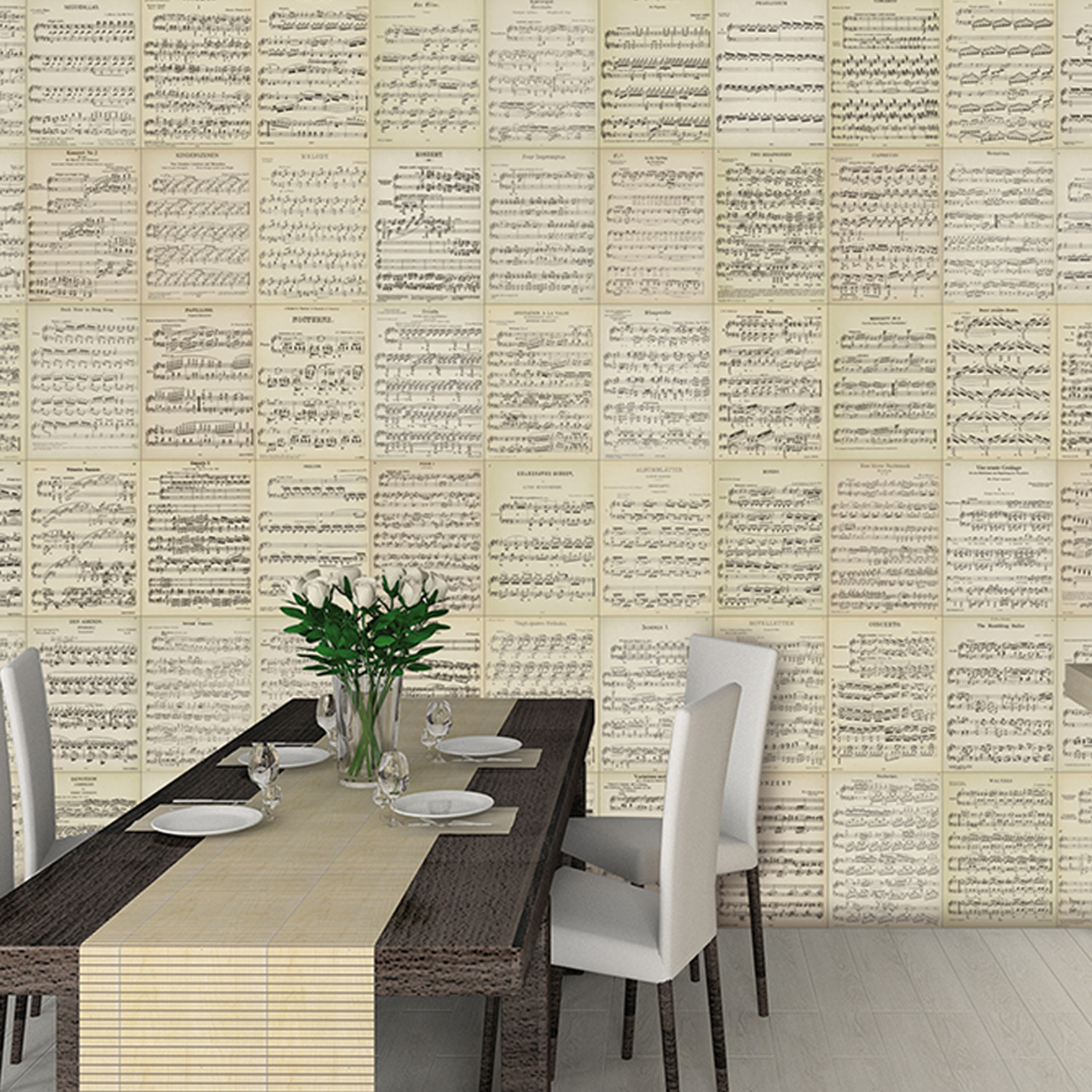Creative collage music sheets 1 wall murals touch of modern creative collage music sheets amipublicfo Choice Image