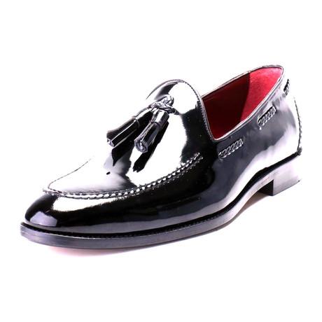 Patent Leather Tassel Loafer // Black