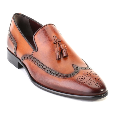 Medallion Tassel Loafer // Tobacco (Euro: 40)