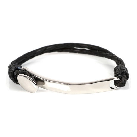 Ali Leather Bracelet // Black + Brown