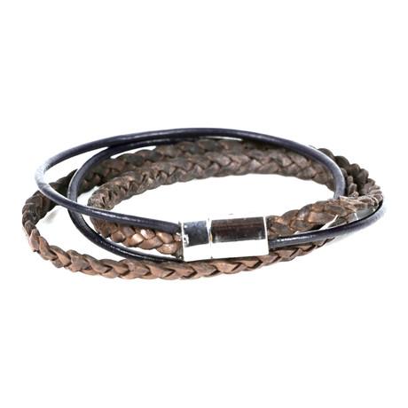 Ozan Leather Bracelet // Black