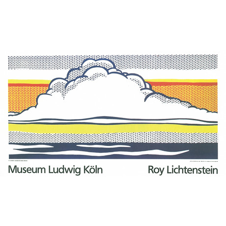 Cloud And Sea // Roy Lichtenstein // 1989 Serigraph