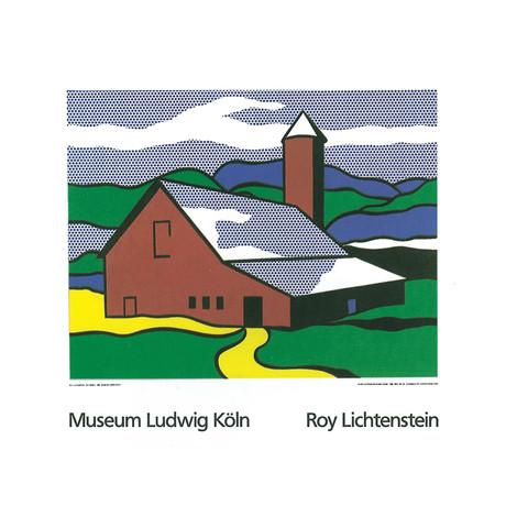 Roy Lichtenstein // Red Barn II (1969) // 1989 Serigraph