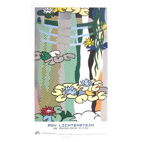 Roy Lichtenstein // Water Lilies With Japanese Bridge