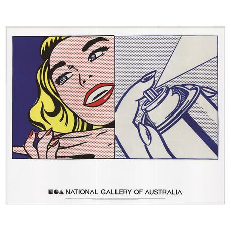 Girl and Spray Can // Roy Lichtenstein // 2013 Offset Lithograph