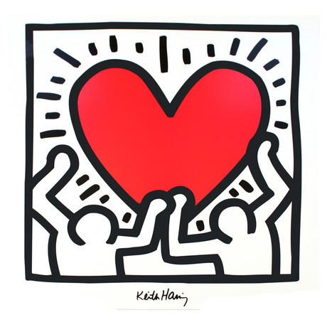 Untitled (1988) // Keith Haring // 1995 Offset Lithograph