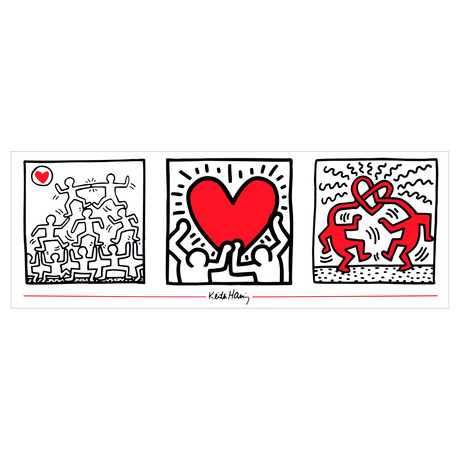 Untitled (1987) // Keith Haring // 1995 Offset Lithograph