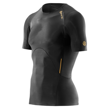 A400 Short Sleeve Compression Top // Gold
