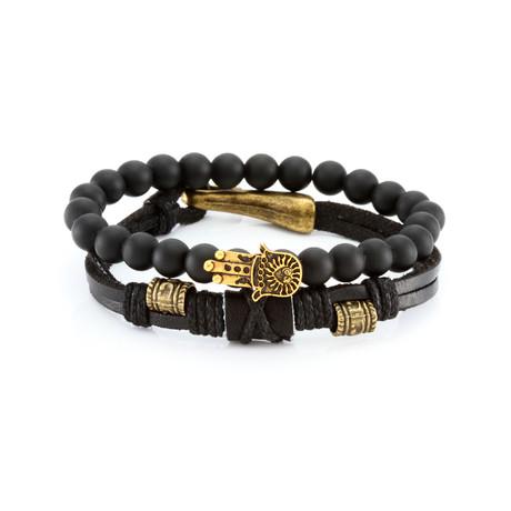The Serenity Bracelet Set // Black