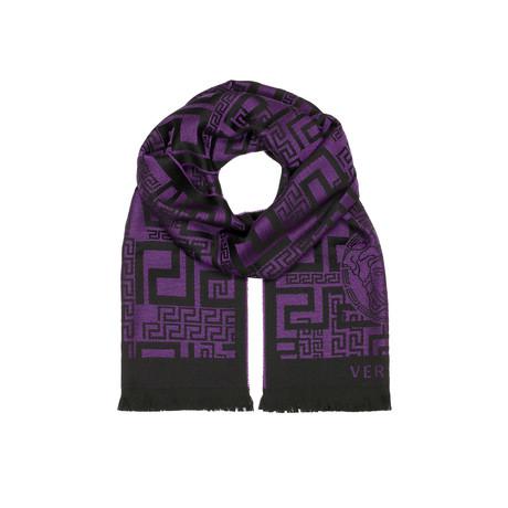 Patterned Medusa Scarf // Purple + Black