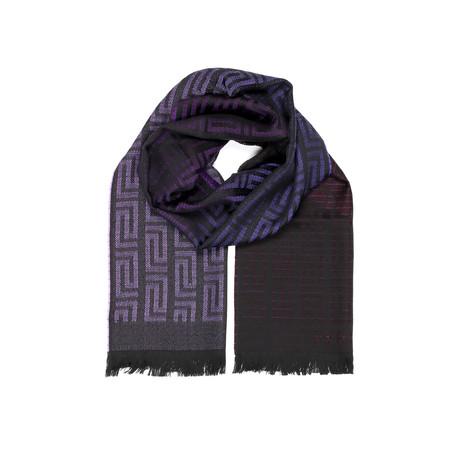 Classic Medusa Scarf // Purple + Black