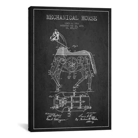 Mechanical Horse Patent Blueprint // Dark