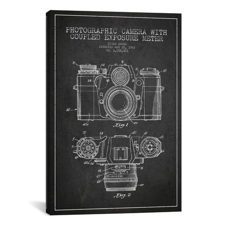 Camera Patent Blueprint // Charcoal