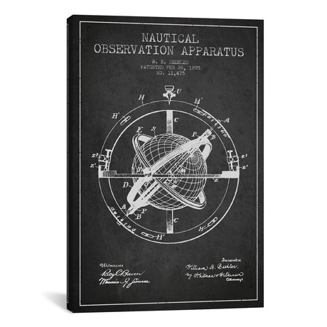 Nautical Observation Apparatus Patent Blueprint // Charcoal