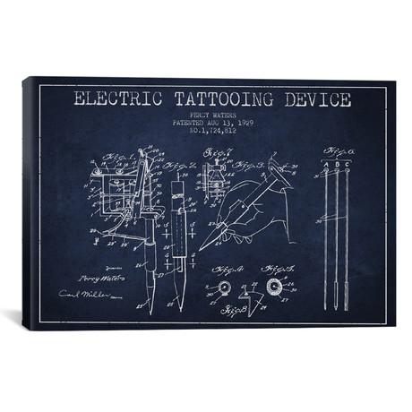 """Tattoo Device // Navy Blue (18""""W x 26""""H x 0.75""""D)"""
