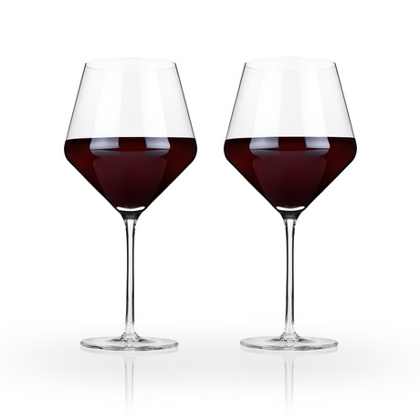 Raye Collection // Crystal Burgundy Glass // Set of 4