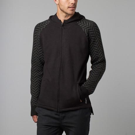 Langston Zip Hoodie // Black